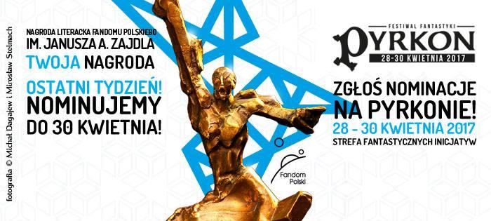 Ostatnie dni nominowania do Nagrody Fandomu Polskiego im. Janusza A. Zajdla